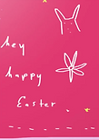 hey happy easter cute greeting card by Ashley Rice