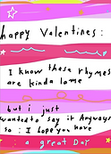 valentine poem greeting card by Ashley Rice