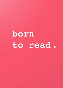 born to read greeting card by Ashley Rice