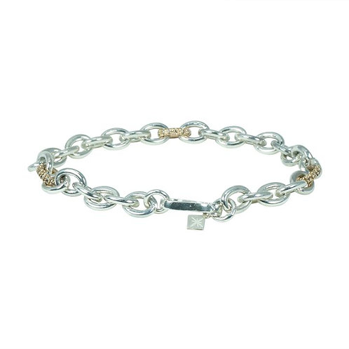 Chain Bracelet Brown Diamond