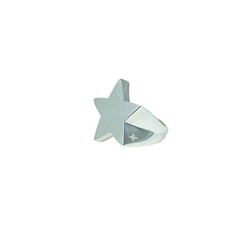 ⚥ Ring Rockstar Silver, Shiny