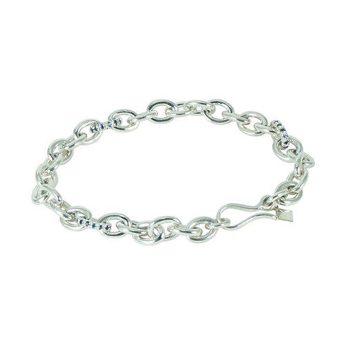 Chain Bracelet Sapphire Shiny