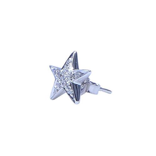 "Earring Stella ""White Diamond"" Silver"