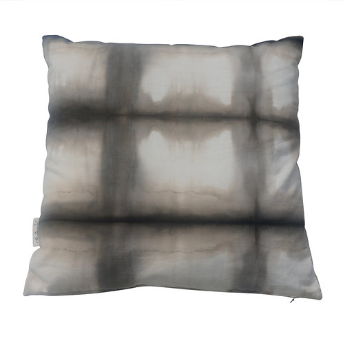 Cushion 'Tie Dyed Square' Black