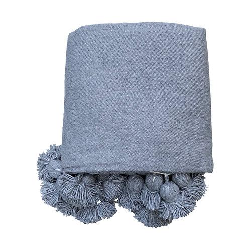 Throw Pompom, Grey