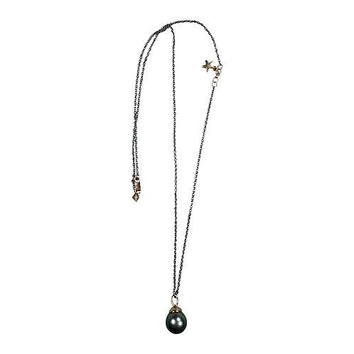 Necklace Gold Star & South Sea Tahiti Pearl