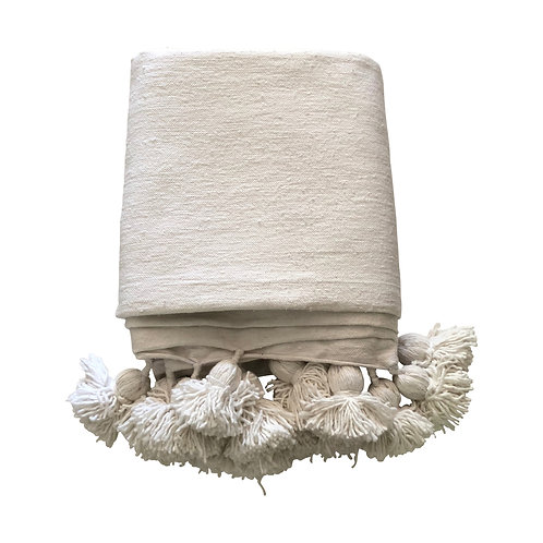 Throw Pompom, White