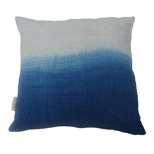 Cushion 'dip dye' Indigo