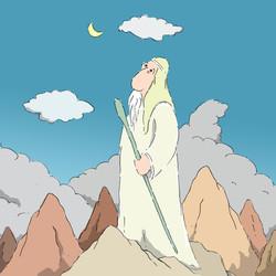 אברהם  צופה לכוכבים