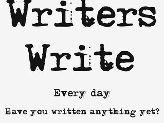 Write Every Day. Or not.