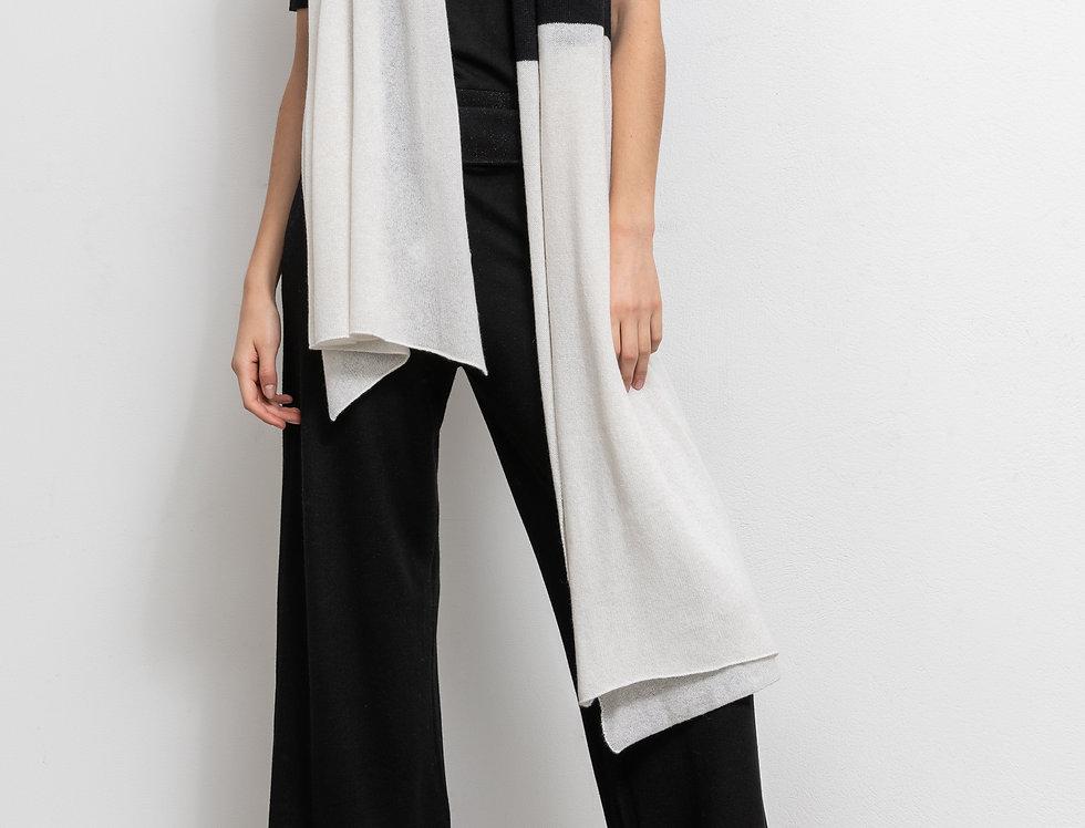 Schal zweifärbig Schwarz/Weiß