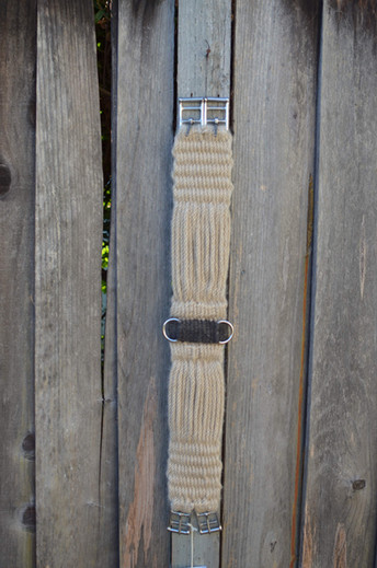 Mohair English Woven Girth solid End wit