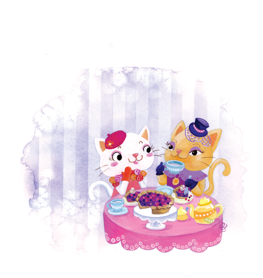 Cat Lady Tea Time