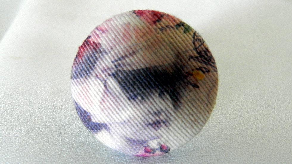 Bague réglable en tissu, photo de fillette rétro