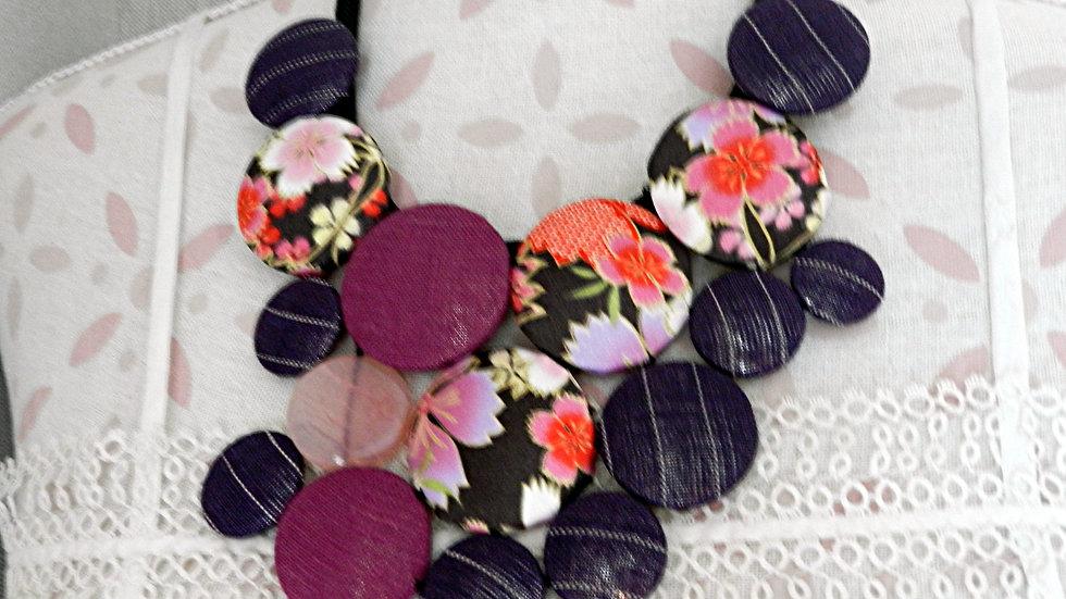 Collier violet, Inspiration Japonaise