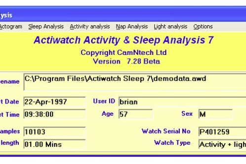 Actiwatch Software