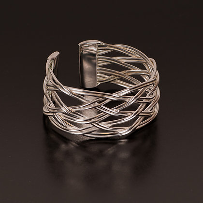 Silver-plated bangle