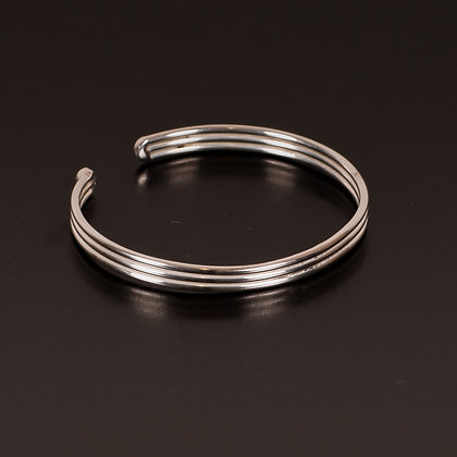Silver-plated bangle Thin