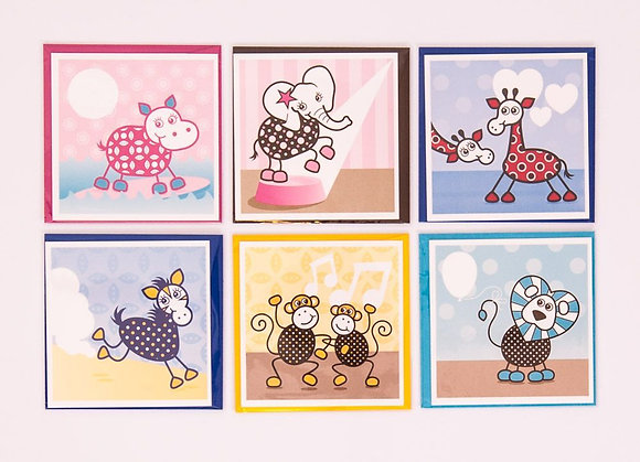 Blank Animal Cards with envelope