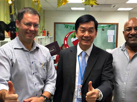 BFM interview with Mr Lee, Managing Director of Top Glove and Dr Lovatt, CEO of Trident Integrity So