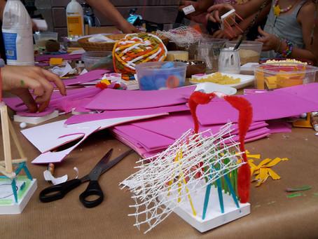 Laboratorio de arte para familias: Estampación, en                                    Centro Cívico