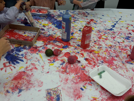 Laboratorio de arte para familias en Centro Cívico Pati LLimona.
