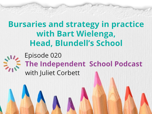 020 Bursaries and strategy in practice with Bart Wielenga, Head, Blundell's School