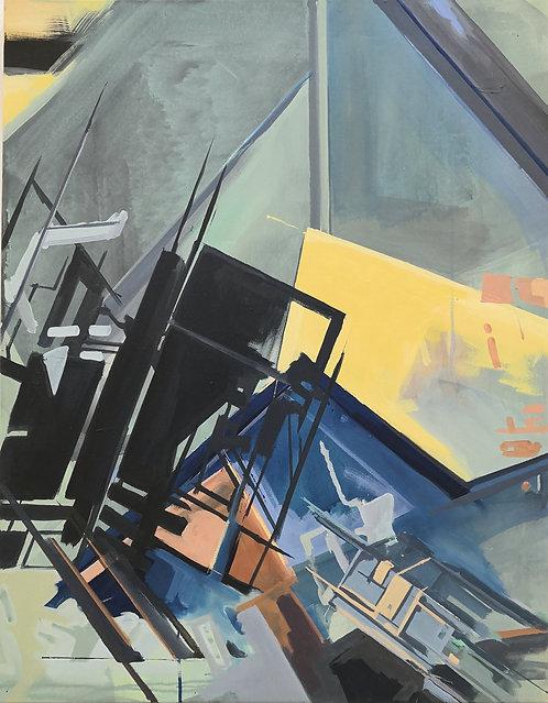 No. 1 | Acryl und Siebdruck auf Leinwand | 90x70 cm