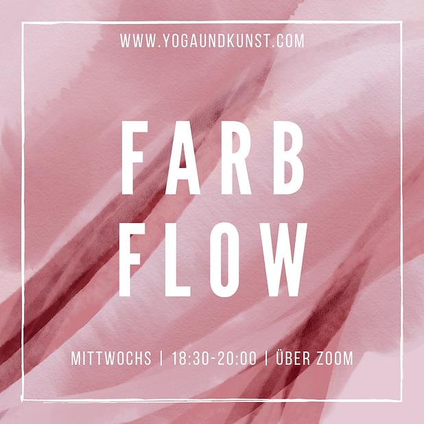 Farbflow Mittwochs live über Zoom