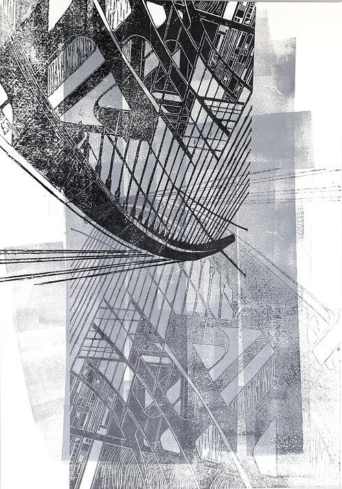bridge III | Linolschnitt auf Papier | 36x51 cm