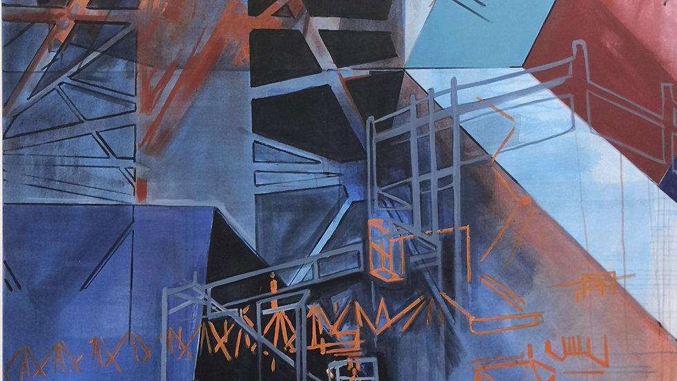 ROST | Acryl und Siebdruck auf Leinwand | 200x145 cm