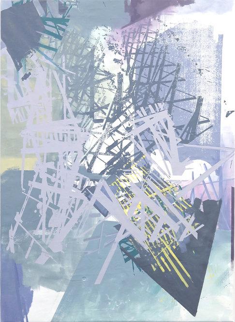 MAST VERSION I   Acryl und Siebdruck auf Leinwand   145x105 cm