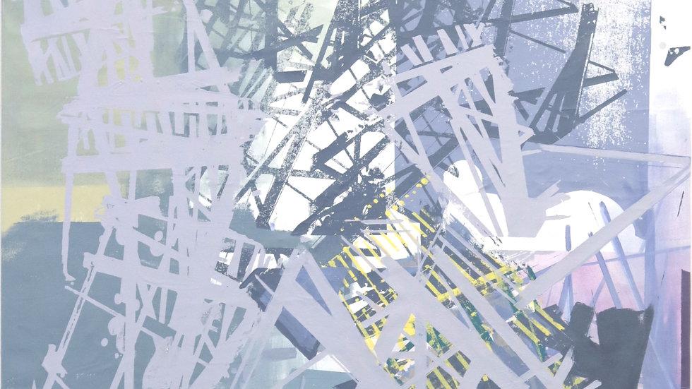MAST VERSION I | Acryl und Siebdruck auf Leinwand | 145x105 cm