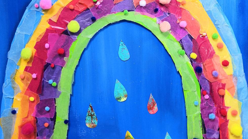 Kinder-Kunst-Tüte: Mein kunterbunter Regenbogen