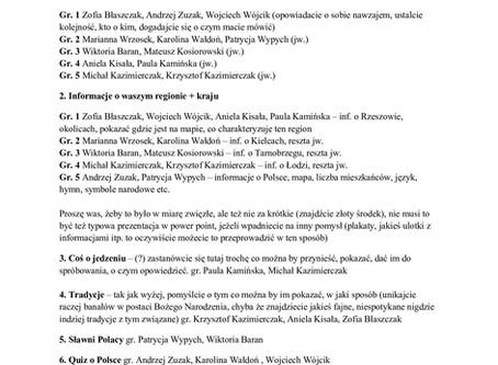 Presentation - Polish evening
