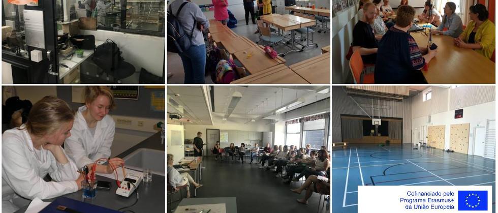 Dia 3 - Visita a duas escolas (uma secundária e uma básica) e partilha de opiniões/impressões sobre as visitas efetuadas. Workshop : Formação sobre avaliação formativa com a convidada especial Tuija Lindstrom.