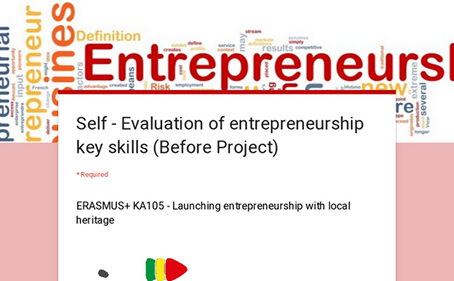 Self - Evaluation of entrepreneurship key skills (Before Project)