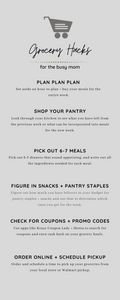 grocery hack infographic