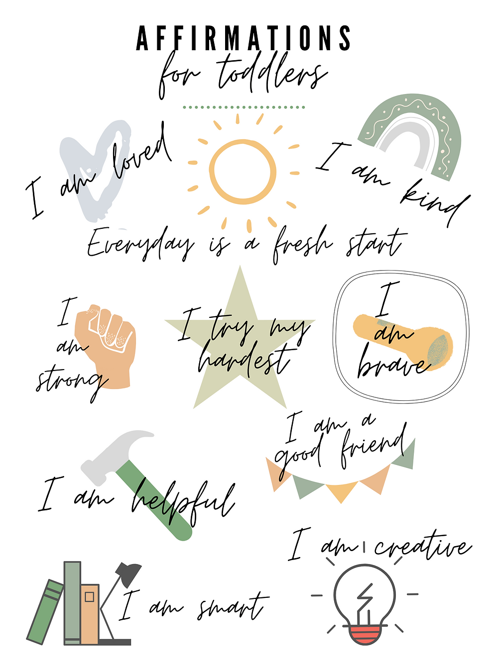 10 Affirmations for Toddlers