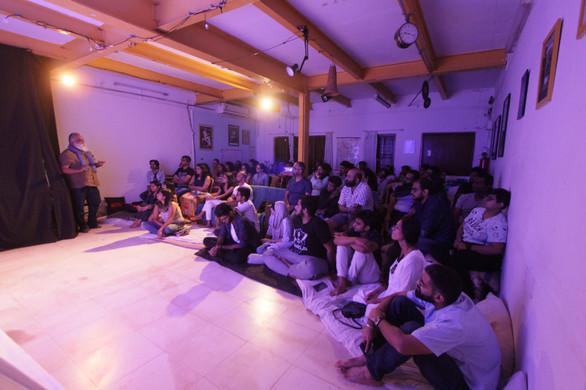 Audience at Harkat Studios