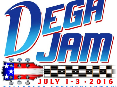 First-Ever Dega Jam Music Festival Coming to Talladega, July 1-3, 2016