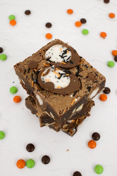 Scream Egg Brownie Slice