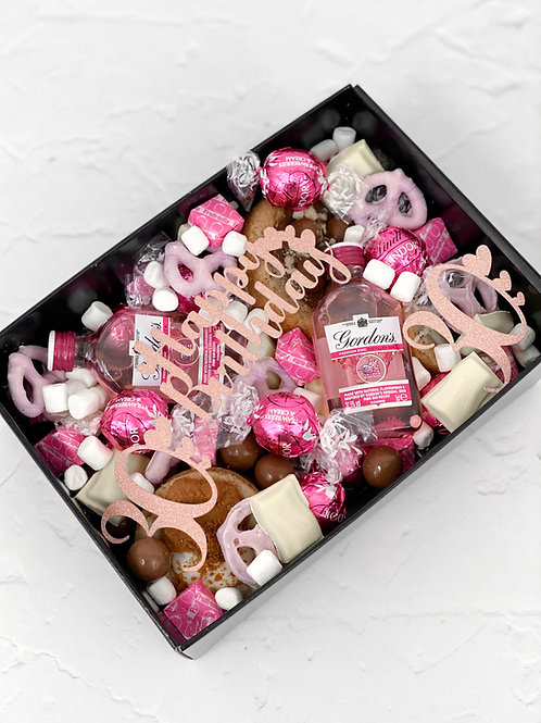 3DD Celebration Box Pink Gin Themed