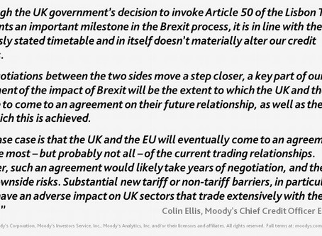 Brexit process step forward on Moody's credit analysis