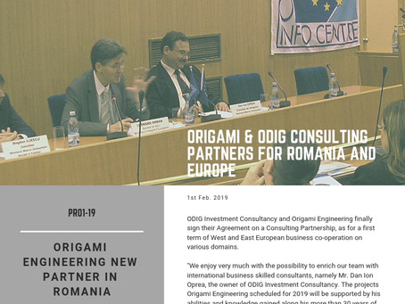 Origami and ODIG Consulting Partners for Romania and Europe