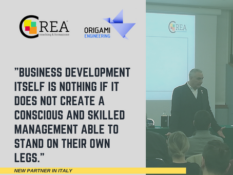 CREA Coaching & Formazione Set up an Integrated Plan with Origami Engineering