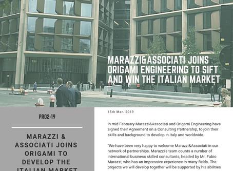 Marazzi&Associati joins Origami Engineering to sift and win the Italian market