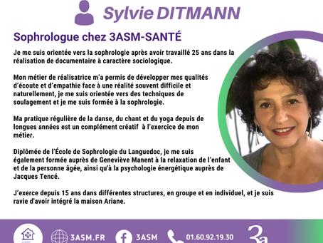 3asm est fière de vous présenter Sylvie DITMANN, notre sophrologue.