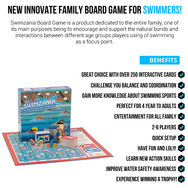 SWIMZANIA Board game best swimmers toy