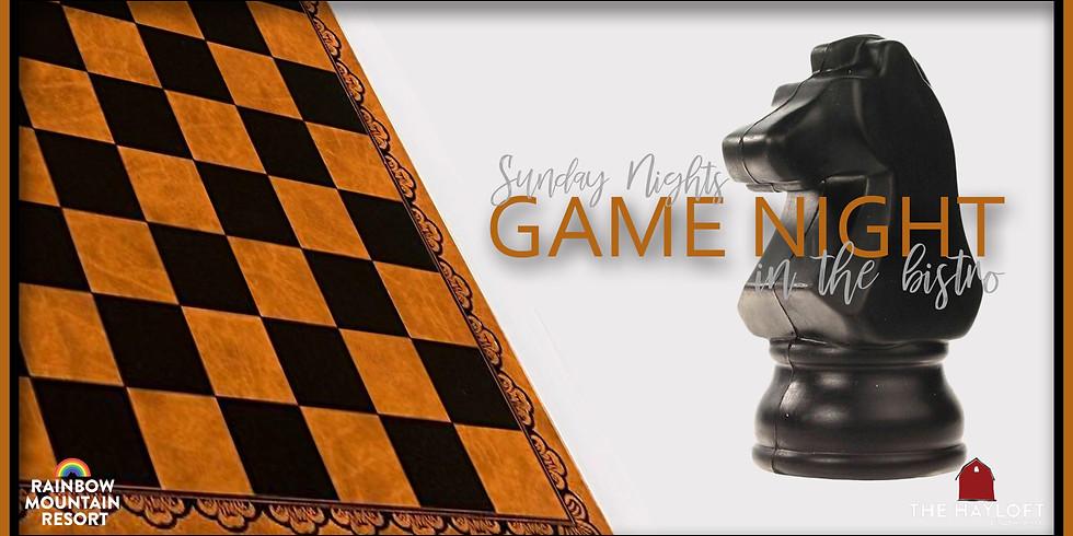 GAME NIGHT SUNDAYS!